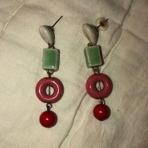 Bright shell & shape earrings!